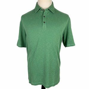 Tommy Bahama Polo Shirt Large Green Tencel